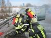 KFZ-Brand Auffahrt Zimmern B14 Richtung Bühlingen