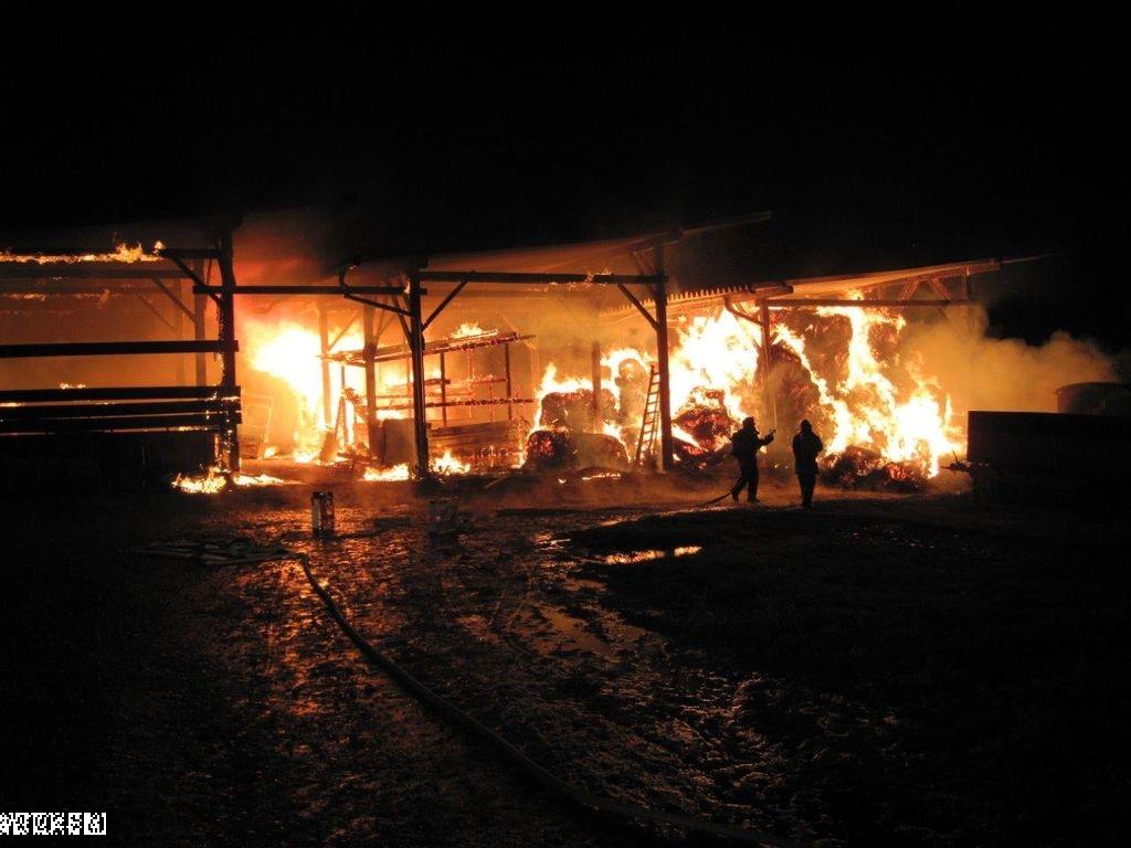 Brand Scheune – Zimmern Richtung Hausen