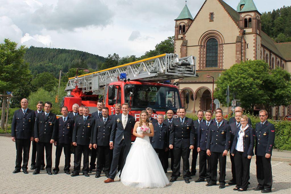 Hochzeit unseres Feuerwehrkameraden Mario 11.06.2016