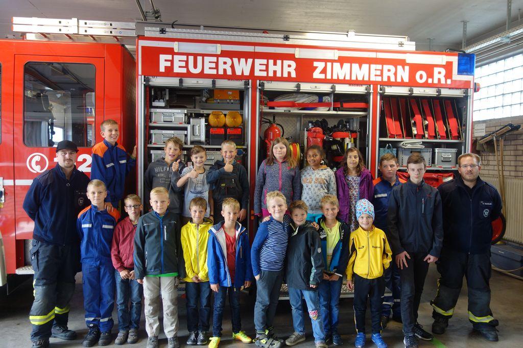 Ferienprogramm Zimmern ob Rottweil bei der Feuerwehr